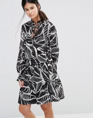 Gestuz Платье с принтом Era. Цвет: черный