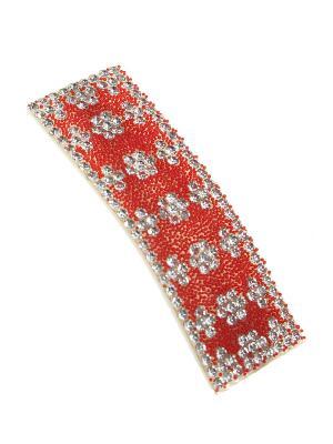Заколка Migura. Цвет: красный, серебристый