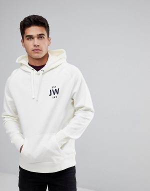 Jack Wills Худи бежевого цвета Batsford JW. Цвет: белый