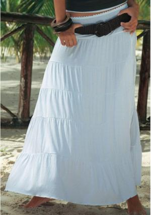 Длинная юбка BEACH TIME. Цвет: белый, серо-коричневый