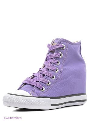 Сникеры 4U. Цвет: серый, фиолетовый