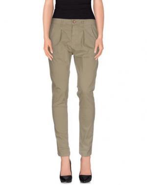 Повседневные брюки AKÈ. Цвет: зеленый-милитари
