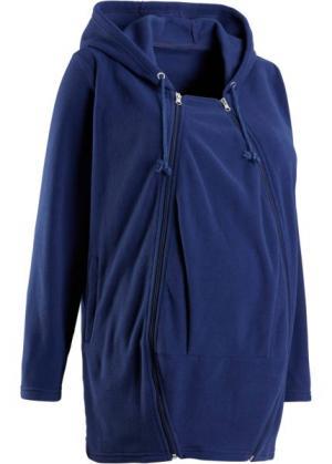 Флисовая куртка для беременных, со вставкой малыша (ночная синь) bonprix. Цвет: ночная синь