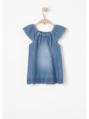 Блузка S.OLIVER. Цвет: темно-синий