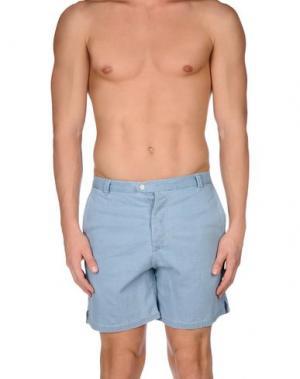 Пляжные брюки и шорты DEPERLU. Цвет: небесно-голубой