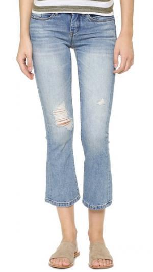 Укороченные расклешенные джинсы Micro Blank Denim. Цвет: weekend warrior