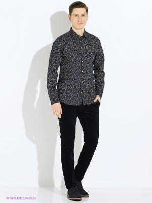 Рубашка Jack&Jones. Цвет: темно-синий