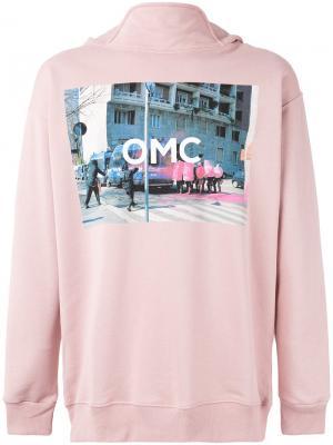 Толстовка с принтом логотипа Omc. Цвет: розовый и фиолетовый
