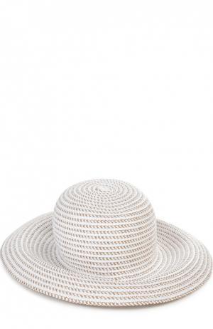Шляпа с брошью Eric Javits. Цвет: белый