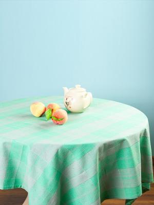 Скатерть ARLONI. Цвет: зеленый, серо-зеленый