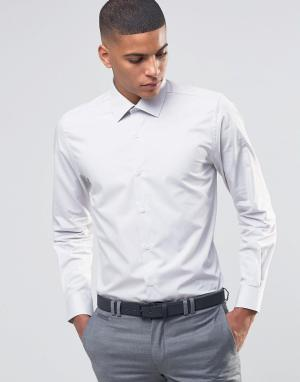 Number Eight Savile Row Зауженная рубашка в строгом стиле. Цвет: бежевый