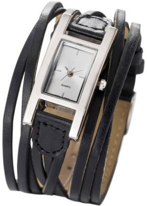 Женские наручные часы Эстель (черный) bonprix. Цвет: черный