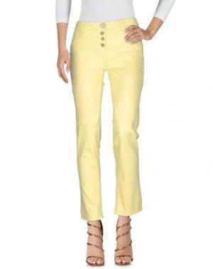 Джинсовые брюки DANIELA DALLA VALLE ELISA CAVALETTI. Цвет: желтый