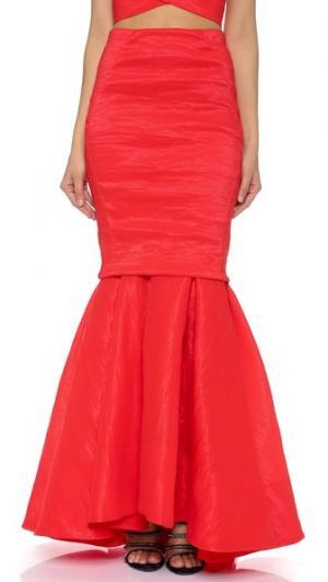Вечерняя юбка-годе Donna Karan New York. Цвет: красное пламя