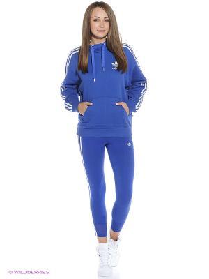 Худи 3 STRIPE HOODY Adidas. Цвет: синий
