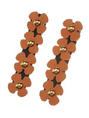 Заколка (комплект - 2 шт.) Migura. Цвет: черный, оранжевый