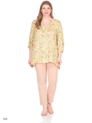 Блузка BERKLINE. Цвет: желтый