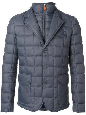 Стеганая куртка Save The Duck. Цвет: серый