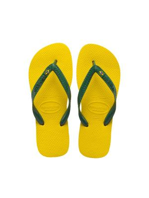 Шлепанцы HAVAIANAS  BRASIL. Цвет: желтый
