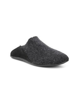 Домашняя обувь ECCO. Цвет: темно-серый, черный