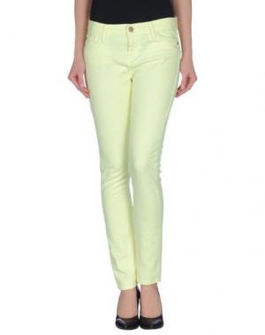 Джинсовые брюки ACQUAVERDE. Цвет: светло-желтый