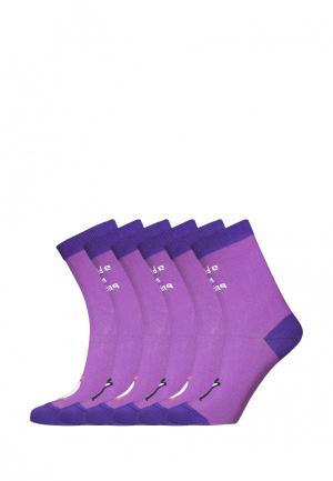 Комплект bb socks. Цвет: фиолетовый