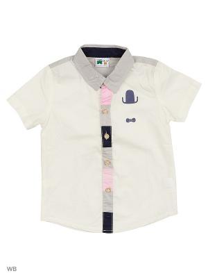 Рубашка Sago Kids i Ant Domain. Цвет: белый, серый
