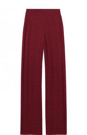Расклешенные брюки фактурной вязки M Missoni. Цвет: бордовый
