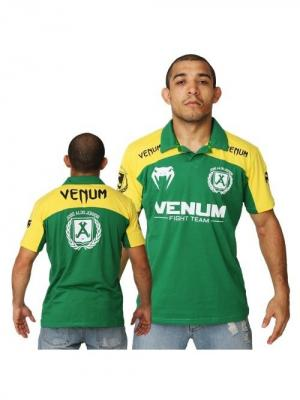 Поло Venum Jose Aldo Junior Signature Polo - Brazil Edition. Цвет: зеленый, желтый