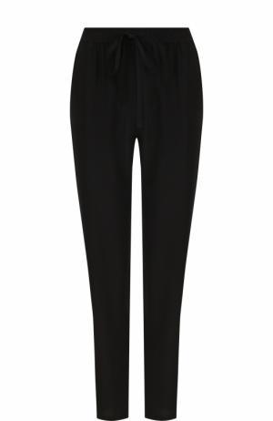 Однотонные шелковые брюки с эластичным поясом REDVALENTINO. Цвет: черный