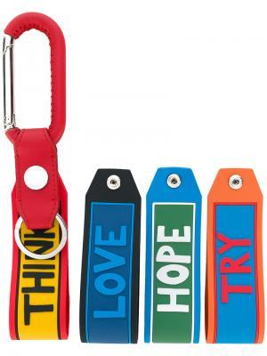 Брелки с надписями Fendi. Цвет: многоцветный