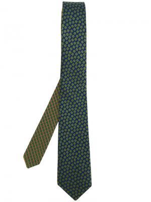 Галстук с цветочной вышивкой Canali. Цвет: зелёный