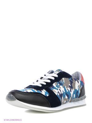 Кроссовки Dino Ricci. Цвет: черный, синий, белый