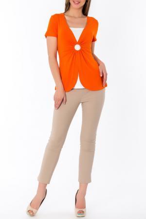 Джемпер S&A style. Цвет: оранжево-молочный