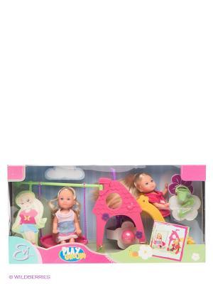 Игровой набор Две Еви Simba. Цвет: фуксия, желтый, фиолетовый