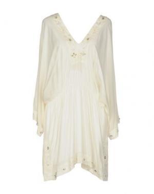 Короткое платье EMAMÒ. Цвет: слоновая кость