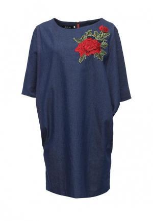 Платье джинсовое Aelite. Цвет: синий