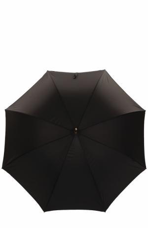 Зонт-трость French Bulldog Pasotti Ombrelli. Цвет: черный