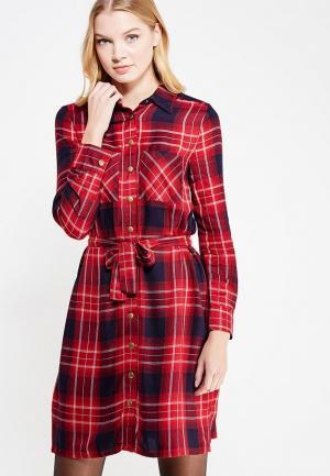 Платье Marks & Spencer. Цвет: красный