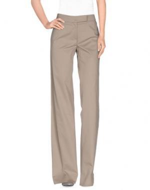 Повседневные брюки NORMALUISA. Цвет: голубиный серый