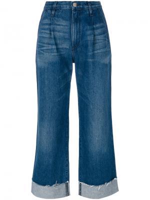 Расклешенные джинсы с завышенной талией 3X1. Цвет: синий