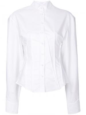 Приталенная рубашка слим Jacquemus. Цвет: белый
