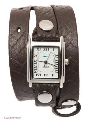 Часы La Mer Collections. Цвет: темно-бежевый, серебристый