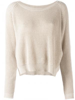 Ribbed sweater Mes Demoiselles. Цвет: телесный
