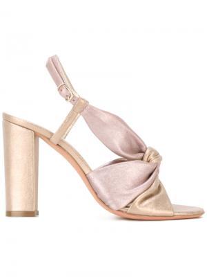 Босоножки Olbia Jean-Michel Cazabat. Цвет: розовый и фиолетовый