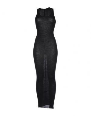 Длинное платье ISABEL BENENATO. Цвет: стальной серый