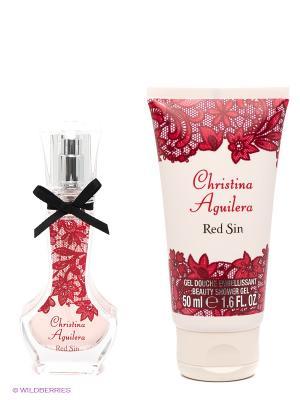 Набор Christina Aguilera Red Sin. Цвет: красный, кремовый