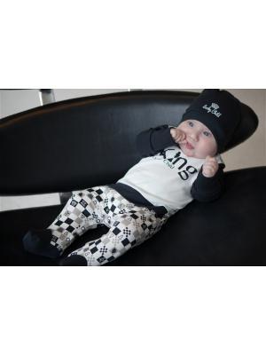 Комбинезон детский Lucky Child. Цвет: темно-серый, бежевый, молочный