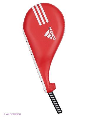 Ракетка для тхэквондо одинарная Maya Single Target Mitt Adidas. Цвет: красный
