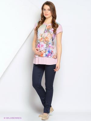 Блуза Gebbe. Цвет: розовый